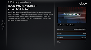 Screenshot of aioTV