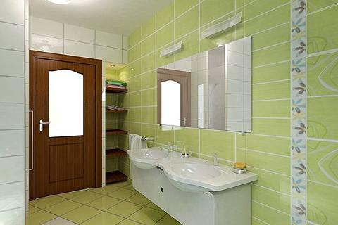 Bathroom walls and floors