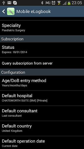Mobile eLogbook - screenshot