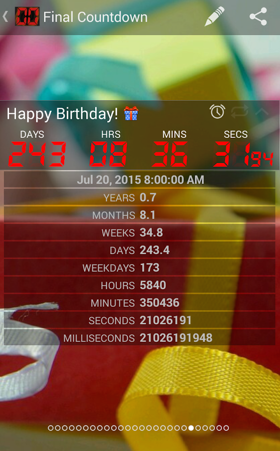 Final Countdown - Widget Screenshot 5