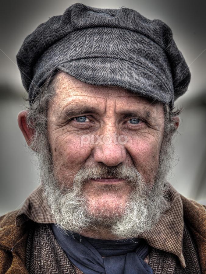 Gerry by John Walton - People Portraits of Men ( cap, beard, victorian, heritagefocus, ragged )