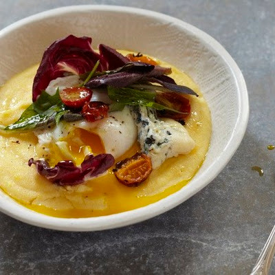 Polenta With Winter Salad, Poached Egg, and Blue Cheese From 'Feast'