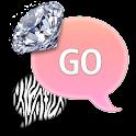 GO SMS - Zebra Pink Diamond 4 icon