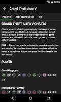 Screenshot of Cheats for GTA