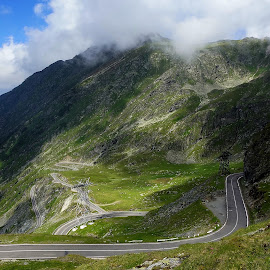 Transfagarasan by Martin Vanek - Landscapes Mountains & Hills ( mountains, transfagarasan, fagaras, romania, road, curvy road )