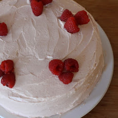 Lemon Birthday Cake with Raspberry Buttercream