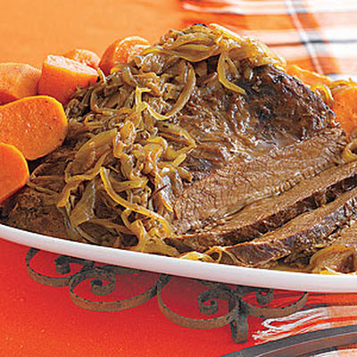 Braised Brisket with Sweet Potatoes