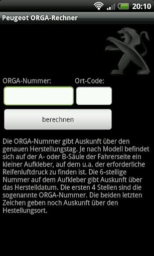 Peugeot ORGA-Rechner