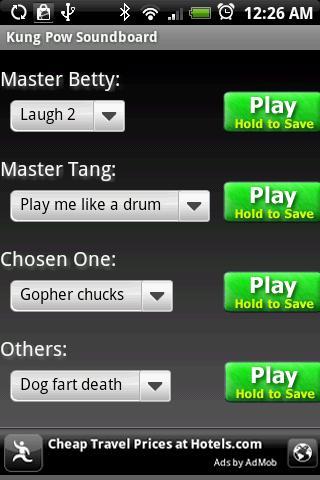 Kung Pow Soundboard