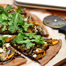 Shaved Butternut Squash & Caramelized Onion Pizza with Goat Cheese