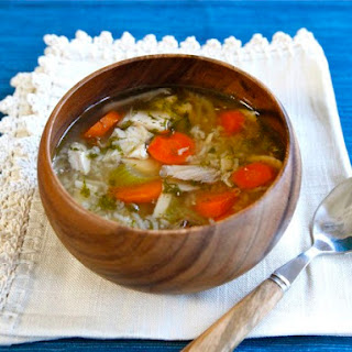 Rotisserie Chicken Rice Soup