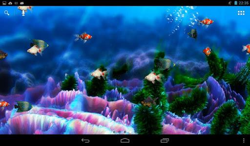 Acquario i migliori live wallpaper per android for Sfondi animati pesci