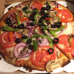 Gluten free crust with veggies