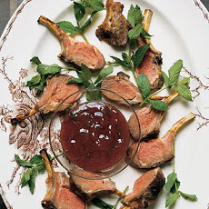Dijon Baby Lamb Chops with Red Currant-Mint Dipping Sauce