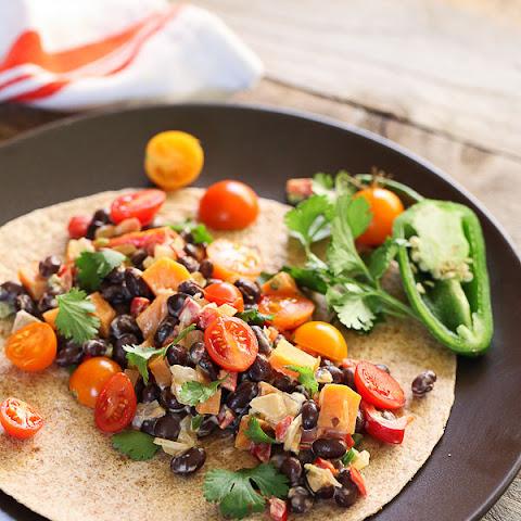 Corn, Black Bean and Pepper Jack Burritos Recipe | Yummly