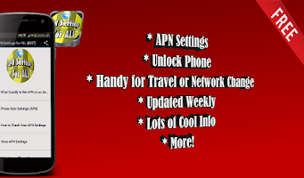 Screenshot of APN Settings for ALL