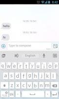 Screenshot of GO Keyboard Flat White Theme