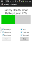 Screenshot of Battery Drain Pro