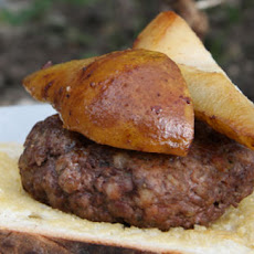 Venison And Pork Burgers With Sautéed Pears