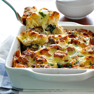 Spinach and Chicken Strata