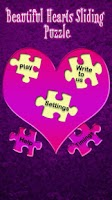 Screenshot of Beautiful Hearts Slide Puzzle