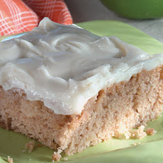 Applesauce Snack Cake with Cream Cheese Frosting
