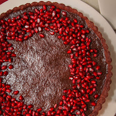 Pomegranate Chocolate Tart