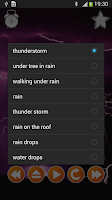 Screenshot of Thunderstorm Sounds Nature