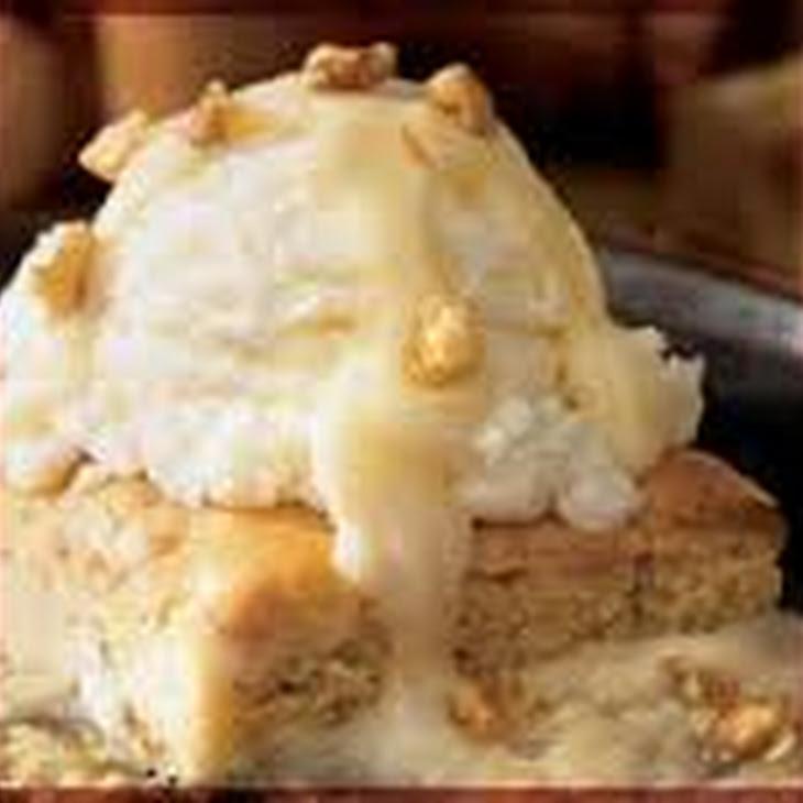 Applebee's Walnut Blondie with Maple Butter sauce Recipe | Yummly