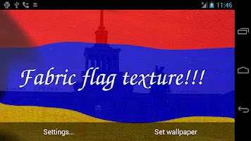 Screenshot of 3D Armenia Flag LWP +