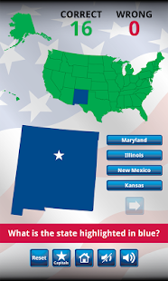 US States and Capitals Quiz - screenshot