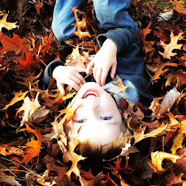 Fall Fun by Dayna Lyn - Babies & Children Toddlers ( #fall2014 #toddlerfun #leaves )