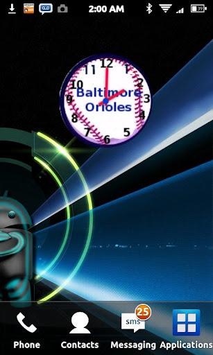 Baltimore Orioles Clock Widget