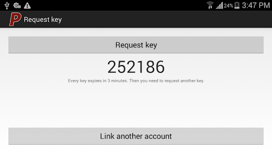 PAYOPM 2-way authenticator - screenshot