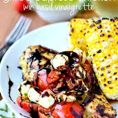 Grilled Caprese Chicken with Basil Vinaigrette