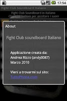 Screenshot of Fight Club Soundboard IT