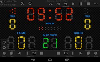 Screenshot of Light Score Scoreboard