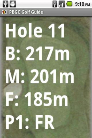 PBGC Golf Guide
