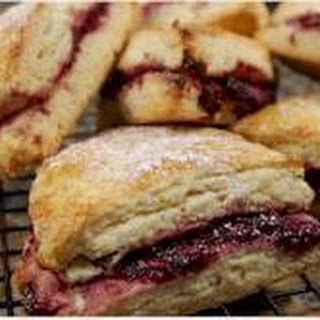 Scones Filled with Jam Tested