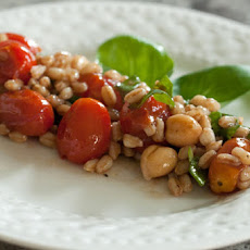 Farro and Broiled Tomato Salad