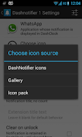 Screenshot of DashNotifier for DashClock