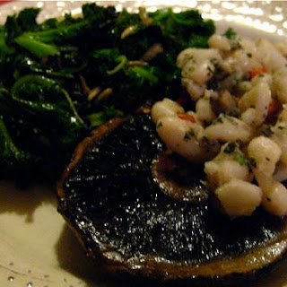 Oven Roasted Portobello Mushrooms marinated in Balsamic (Vegan, Gluten Free) Vinegar, Shallots and Thyme