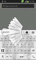 Screenshot of White Keyboard Theme