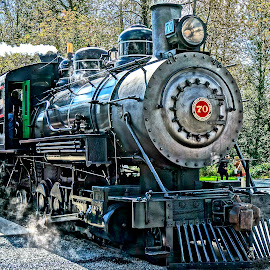 Locomotive by Barbara Brock - Transportation Trains ( steam engine, railroad, locomotive, train,  )