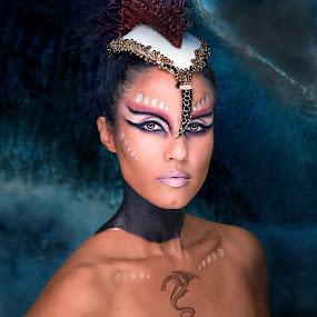 Dragon Lady by Aaron Blackburn - People Portraits of Women ( #phxcomicon, #dragon, #woman, #muakarlamedina, #_aaronbphotography, #amazing, #arizonamodel, , #GARYFONGDRAMATICLIGHT, #WTFBOBDAVIS )