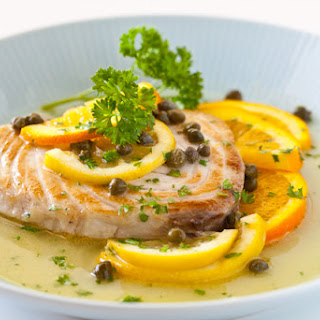 Fish with Citrus Caper Sauce
