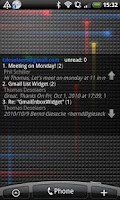 Screenshot of Gmail Inbox Widget