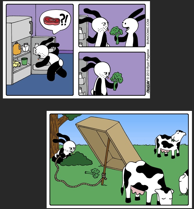 Amikor steaket szeretnél, de csak brokkolid van - egy újabb vicces kép