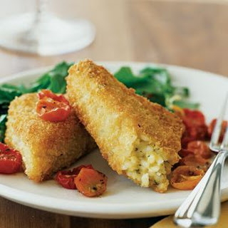 Risotto Cakes with Cherry Tomatoes