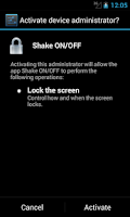 Screenshot of Shake ON/OFF